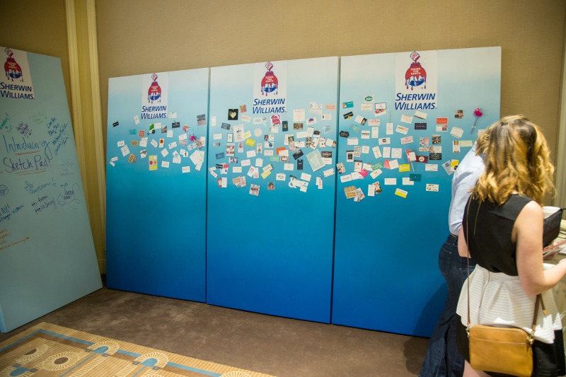 Altitude Summit Business Card Wall from Sherwin Williams