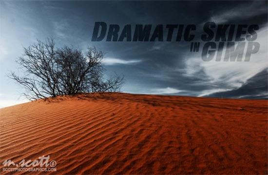 Skies dramatic in GIMP