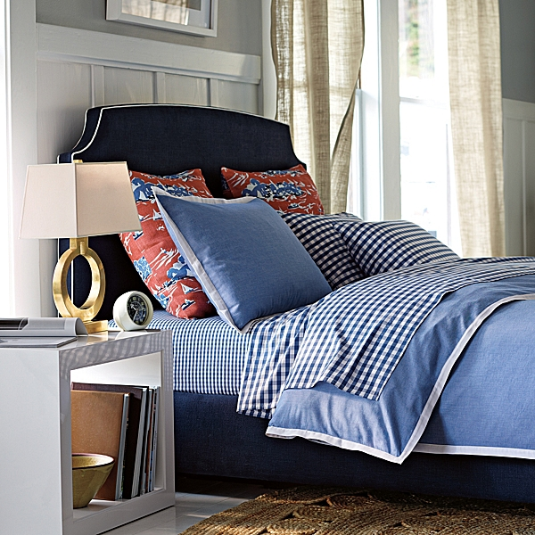 ... Love This Chambray Bedding. Never Ever Ending Mix And Matching  Possibilities. I Love How They Broke Up The Set And Used Gingham Sheets And  Toile Shams.