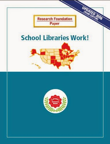 Report cover: School Libraries Work!, third edition, produced by Scholastic Library Publishing