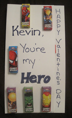 Homemade Superhero Valentines Day Card