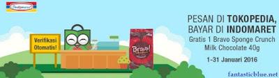 Pesan di Tokopedia Bayar di Indomaret Gratis Snack Bravo
