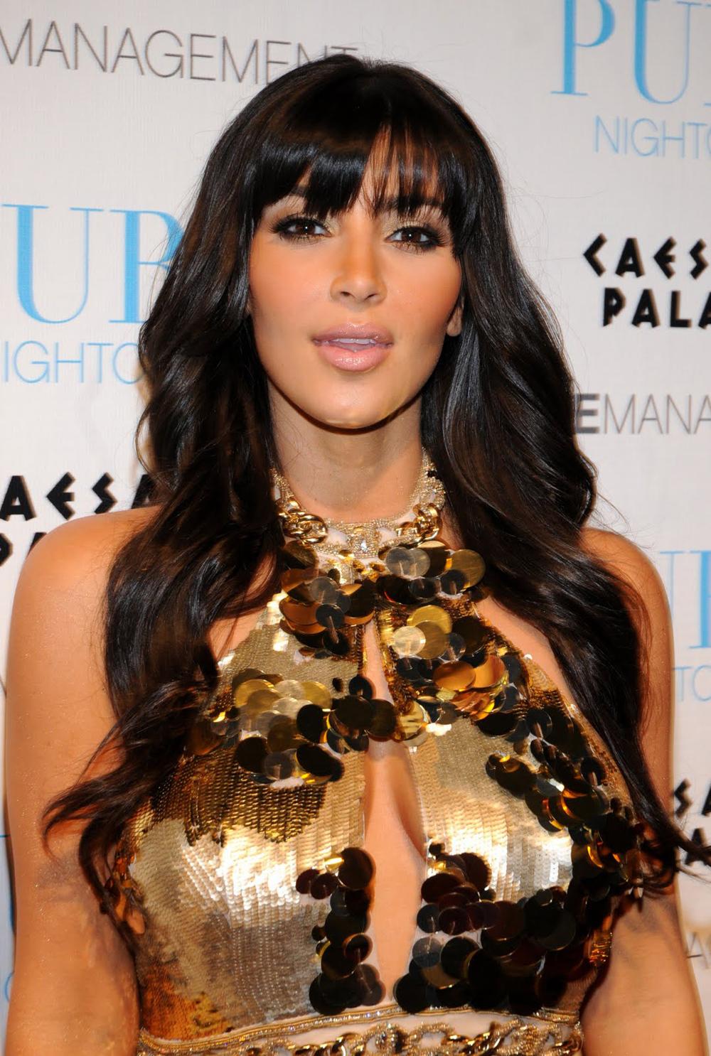 Kim Kardashian Dark Hair Color 05