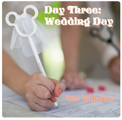 Our Wedding Trip Report Day 3, Part 4: Wedding Day, The Signing.  Disneyland Wedding {Root Photography}
