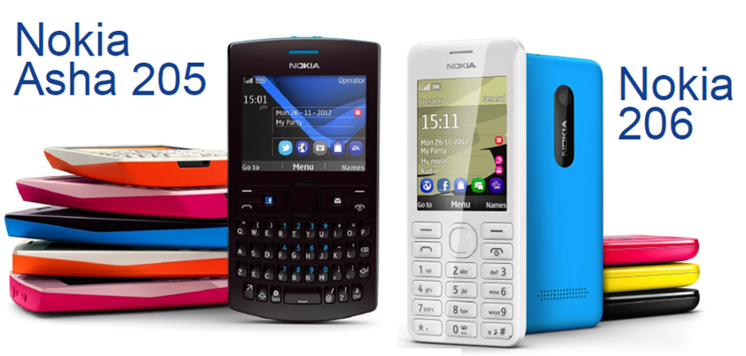 Harga HP Nokia Terbaru Asha 205 Dan Asha 206
