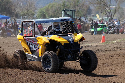 James Hill in his Can-Am Maverick