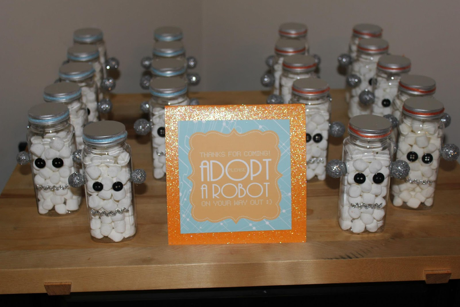 laugh and take a picture a robot baby shower