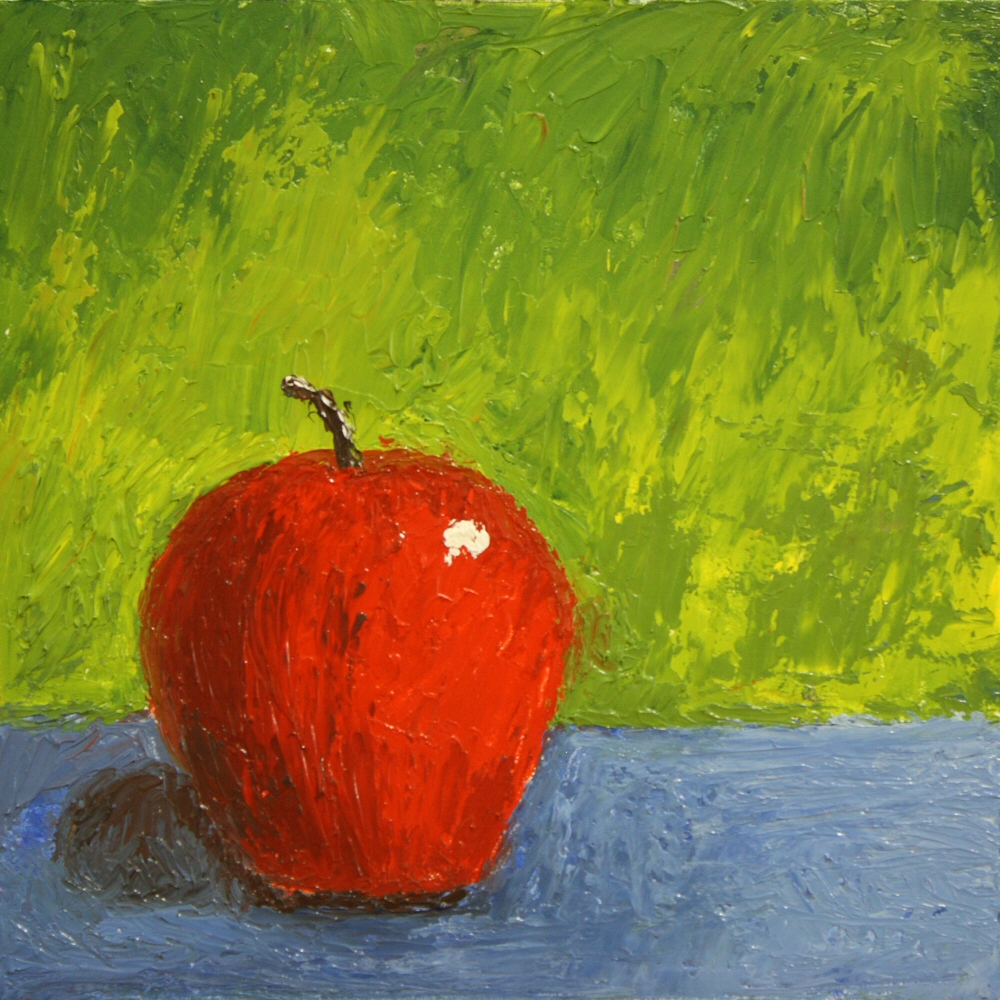 Kitchen Painting - Apple 005b 6x6 oil on gessobord - Dave Casey - TheDailyPainter.jpg
