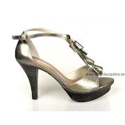 ofertas zapatos de mujer outlet, grandes descuentos en zapatos de mujer (sandalia dorada piel )