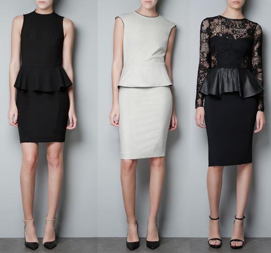 vestidos zara otroño/invierno 2012 2013