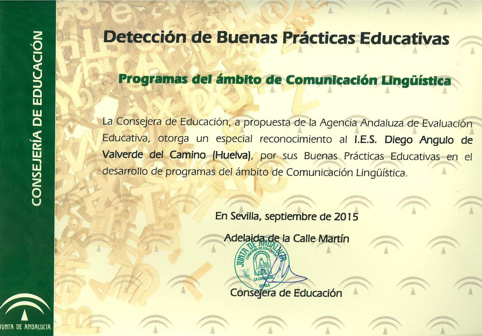 Certificado de Buenas Prácticas