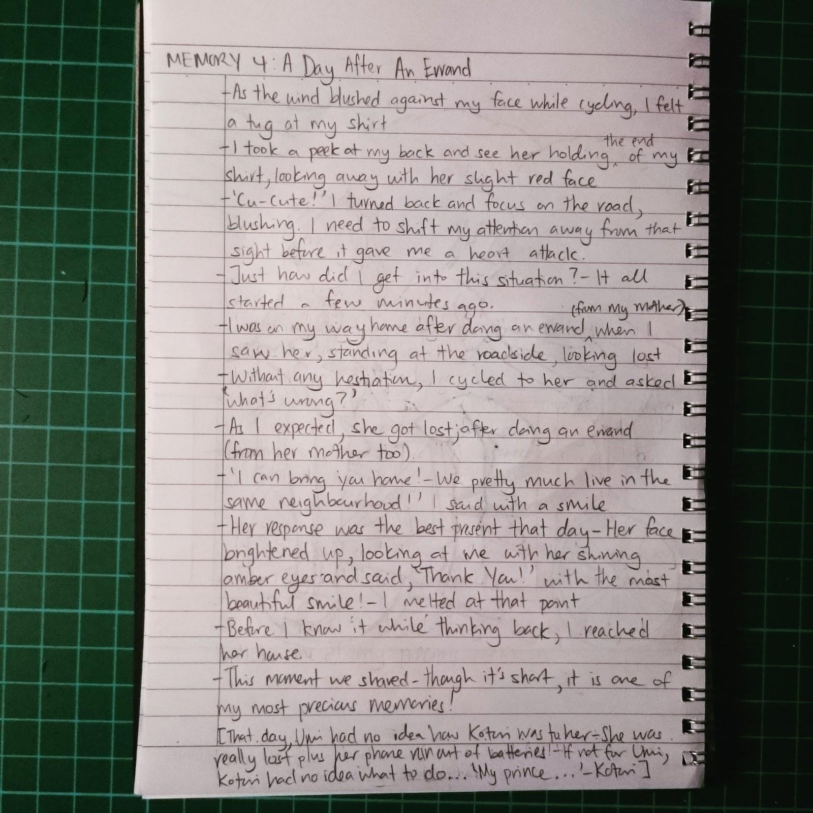 How do I write a authors note?