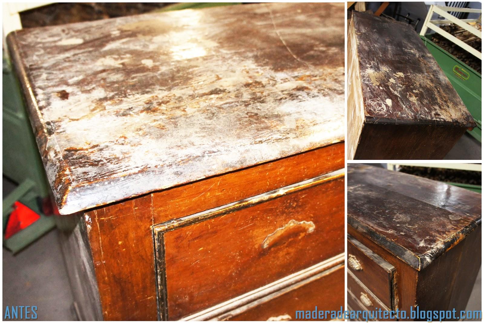 Madera de arquitecto restauraci n de muebles c moda Reparar aranazos madera barnizada