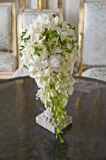 bouquet do casamento de Charlene Wittstock, flores