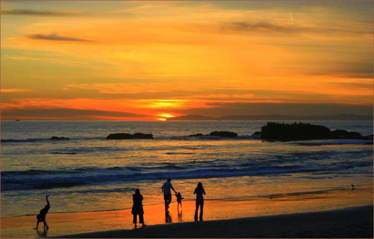 Sunset on the Beach- California United States