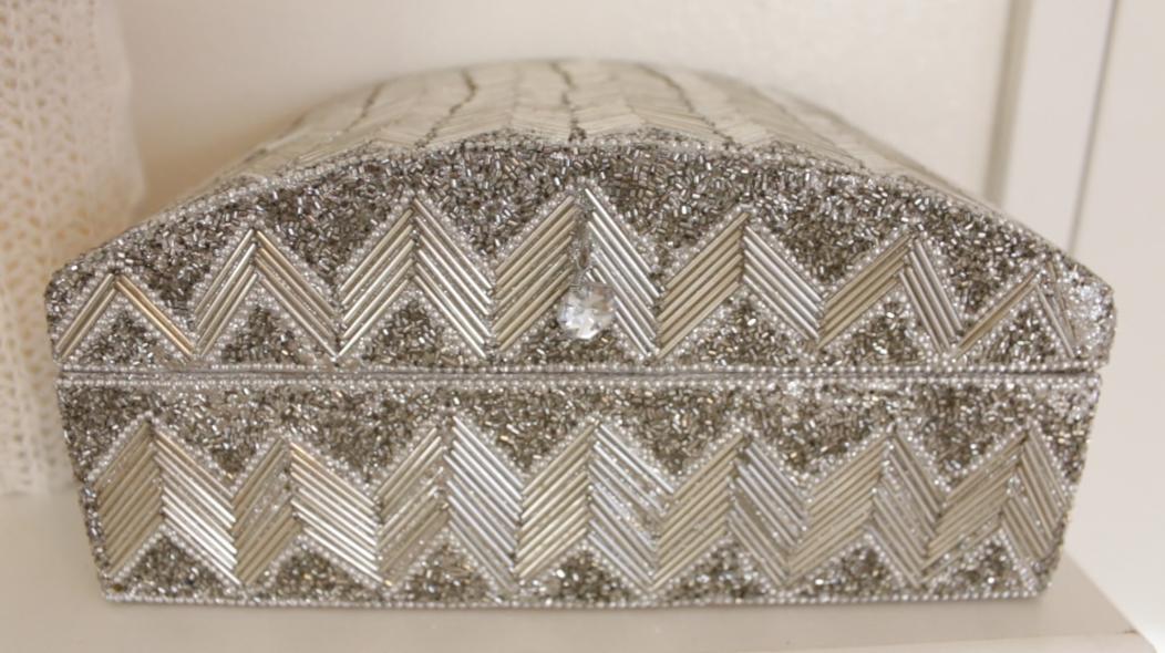 Silver Beaded Box