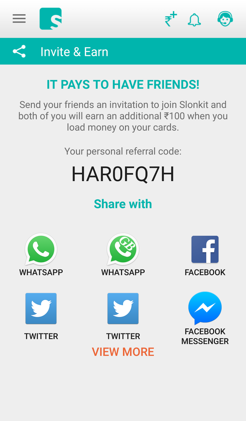 Slonkit Loot Trick Free Physical Card 100 Rs Per Refer Invite Giftcard Paypal Vcc 2 Year Verif You And Your Friend Will Get For When Load 200 Or On His