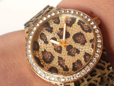Leopard Accessories, Leopard and Crystal Watch, Watch Gifts For Teens, Watches For Women