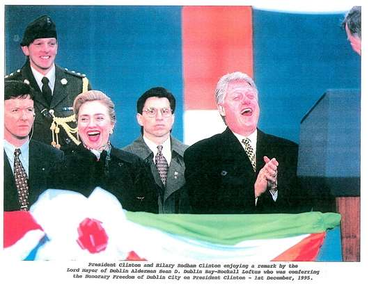 SAIC Lew Merletti and the Clintons