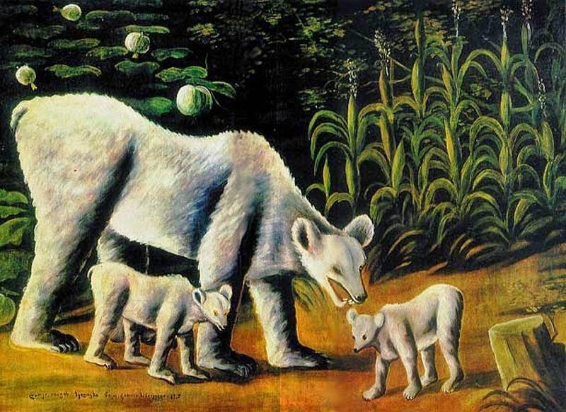 Bear family, Niko Pirosmani (1917)