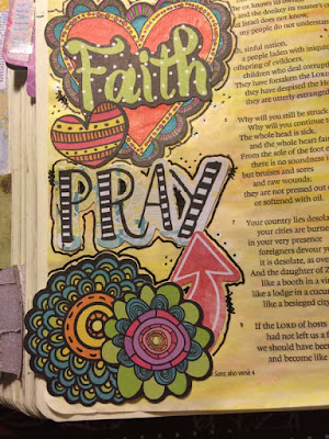 Faith Bible Journal Page by Lynn Shokoples for BoBunny
