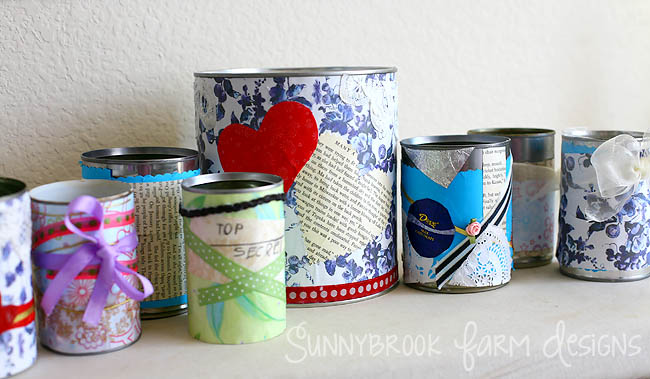 Sunnybrook Farm Designs: Recycled Can Pen Holders