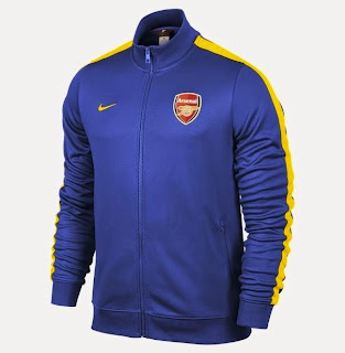 jual ajket bola, gambar jaket arsenal warna biru, grade ori, tempat jual online jaket arse