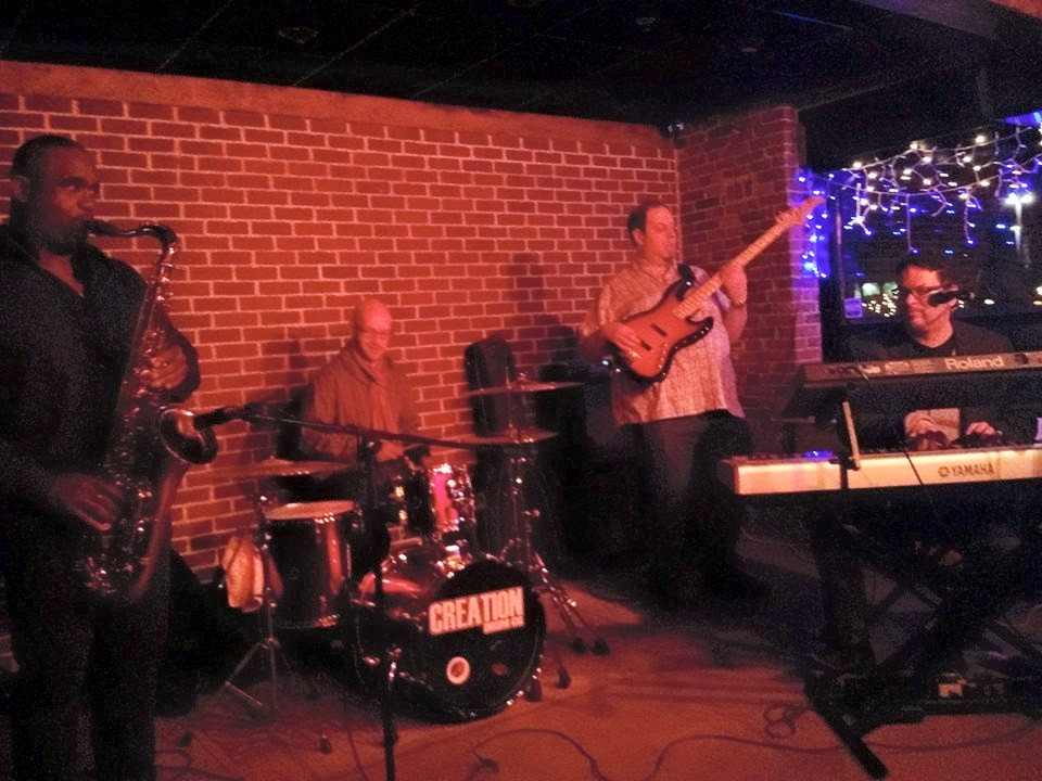 saxophone, drums, bass, keyboards, vocals, funk, soul, groove, get down, Mill City, Christmas Lights, Brickwall, Jazz