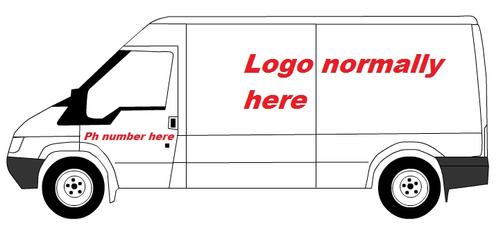 Marketing for trades your van sign writing for Van sign writing templates