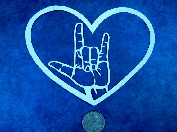 i Love You Sign Language Heart i Love You in Sign Language