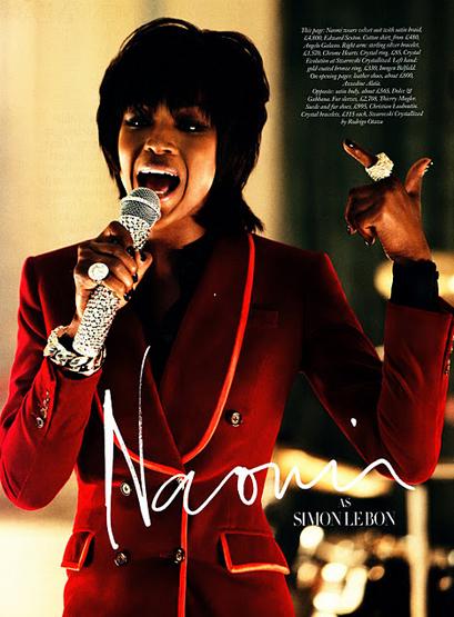 Naomi Campbell Duran Duran Girl Panic