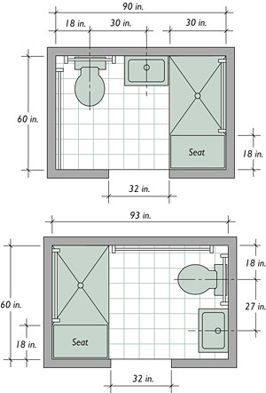 Small bathroom floor plans on pinterest bathroom for Bathroom designs plans layouts