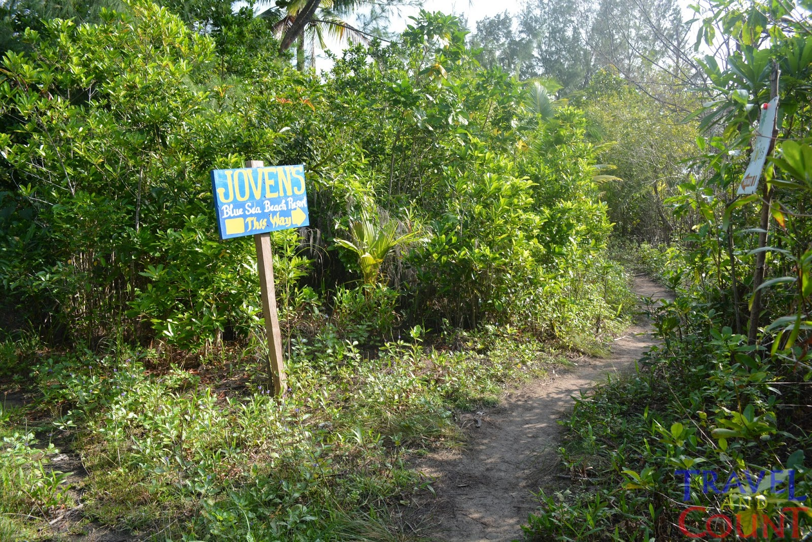 Signboards going to Jovens Resort, Cagbalete