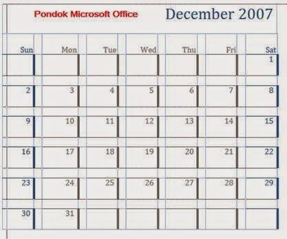 tabel bentuk kalender
