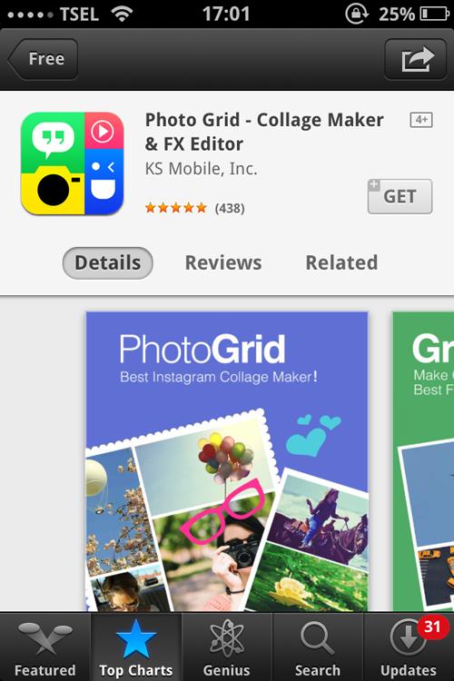 Aplikasi iPhone Terbaik 2015 - Photo Grid Collage Maker