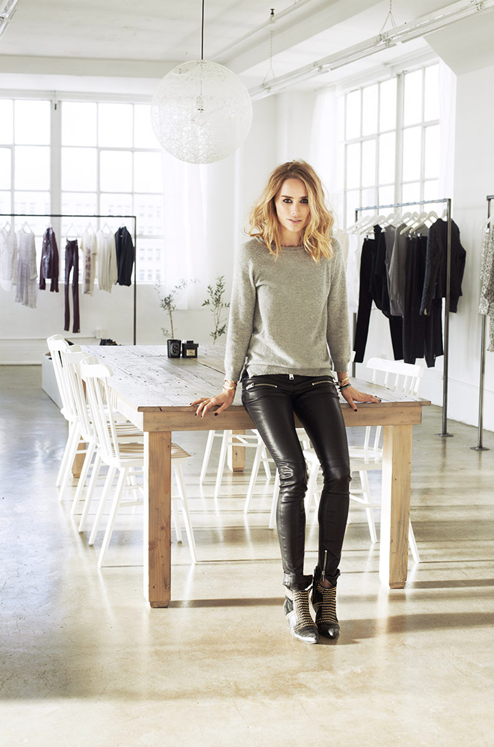 In the perfect studio of the fashion designer annie bing for The design studio