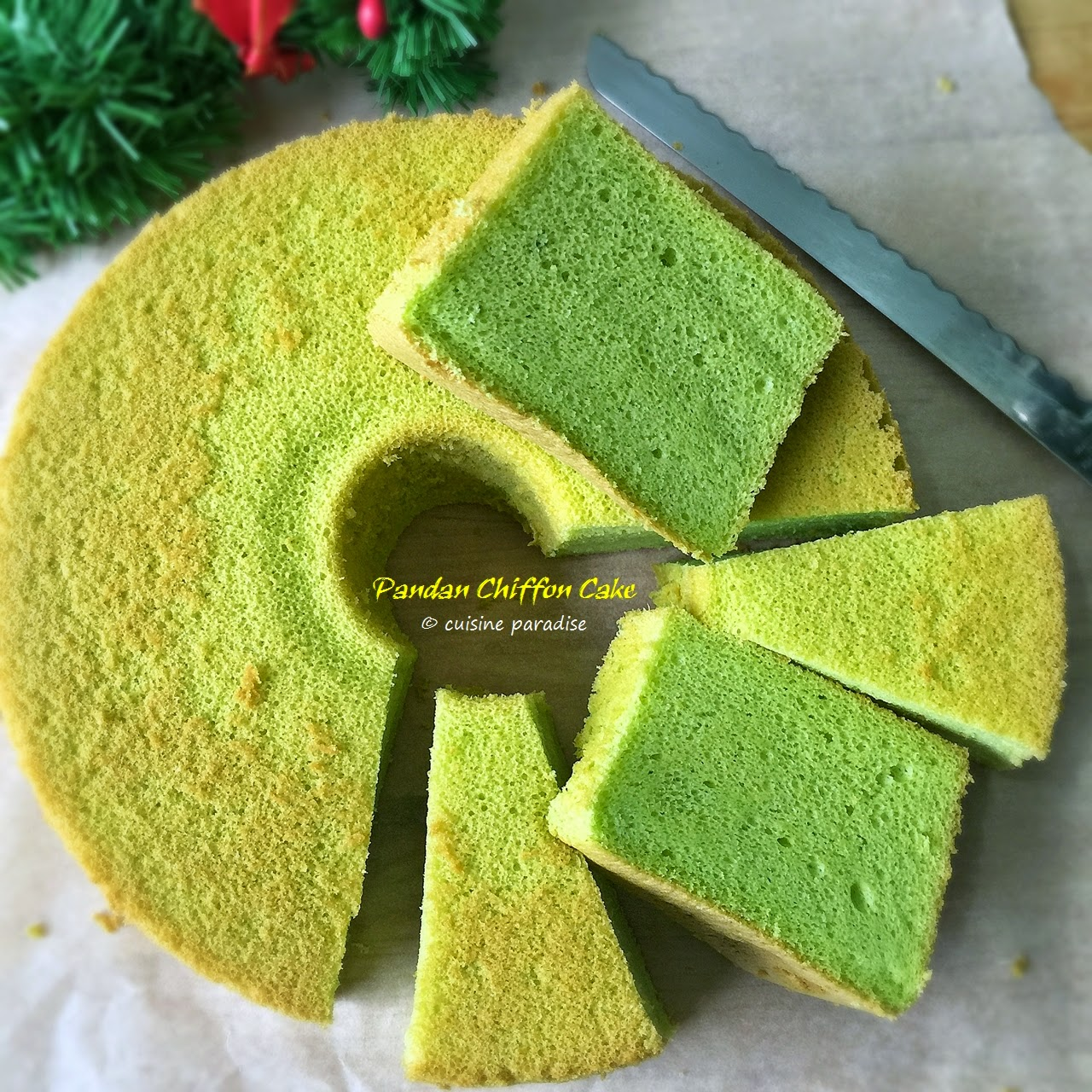 Cuisine Paradise Singapore Food Blog Recipes Reviews And Travel Recipes Pandan Chiffon