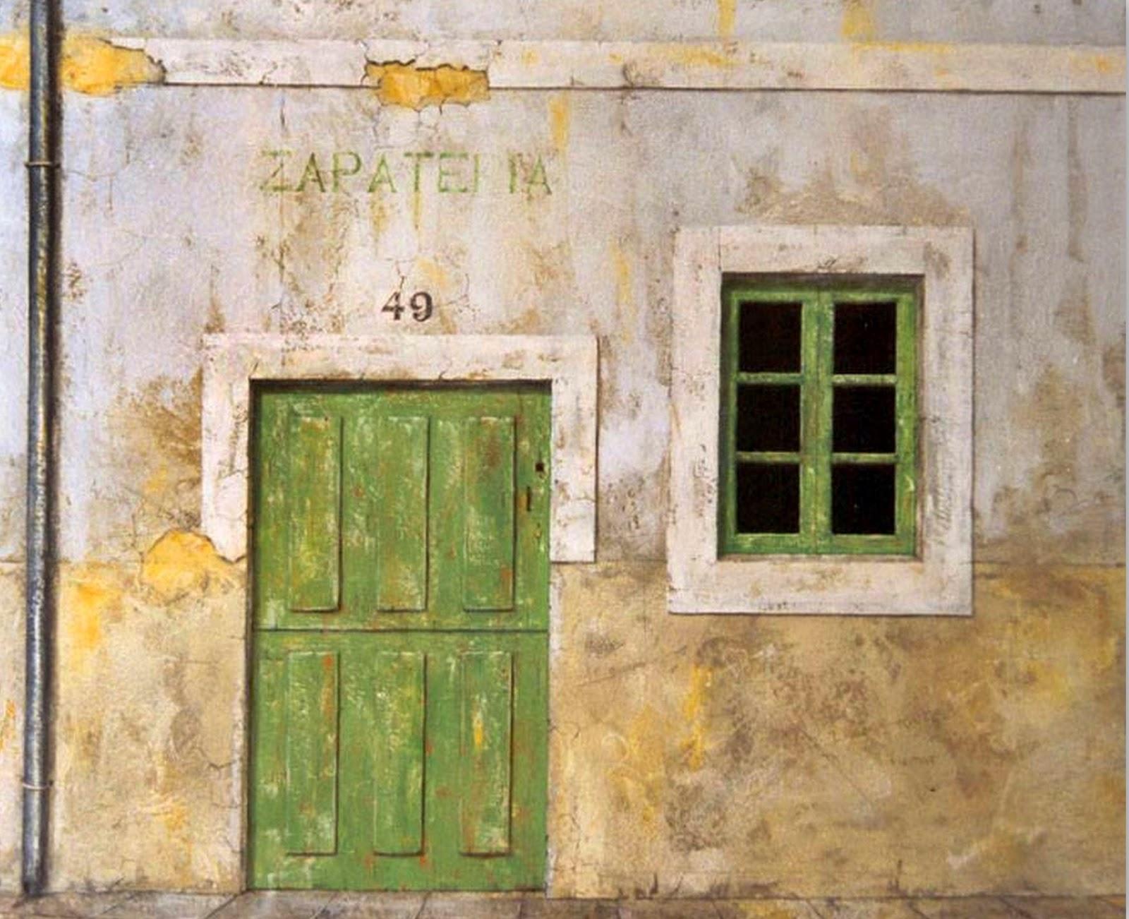 Pinturas cuadros lienzos cuadros de puertas antiguas for Imagenes de puertas viejas