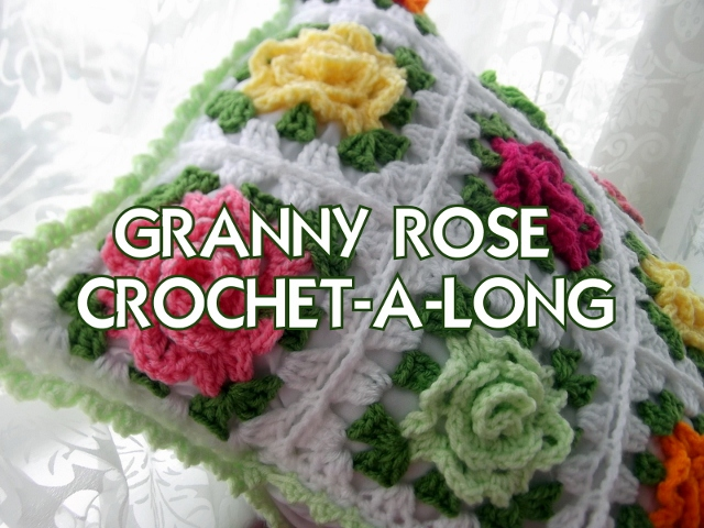 Crochet Rose Pattern Granny Square : Apple Blossom Dreams: C.A.L. Granny Rose Week #1 of 5