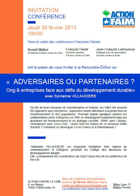 Energie et développement - adversaires ou partenaires conférence