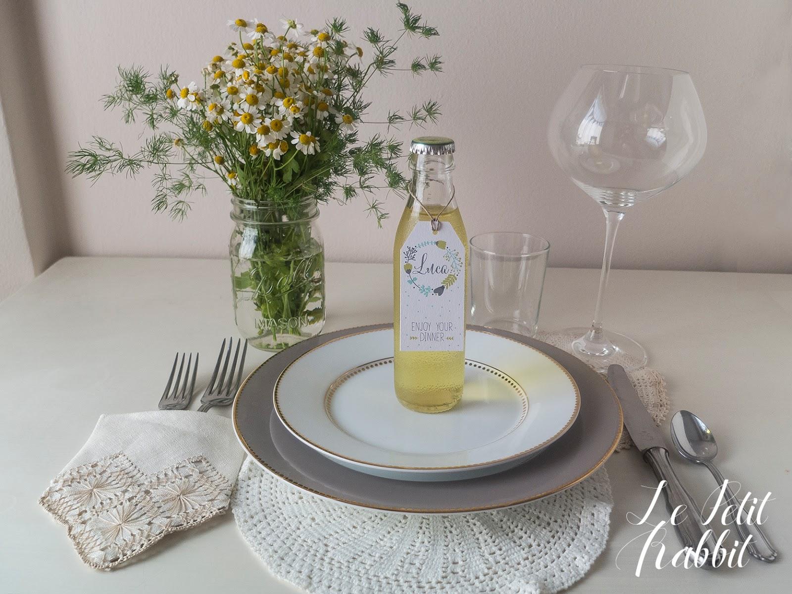 Segnaposto Matrimonio Azzurro : Wedding tips il segnaposto le petit rabbit