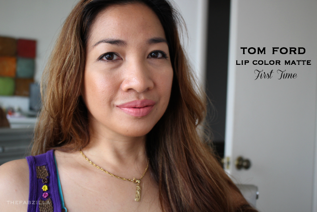 tom ford lip color matte first time, tom ford lip color moroccan rouge, review, swatch, tom ford beauty, guerlain terracota