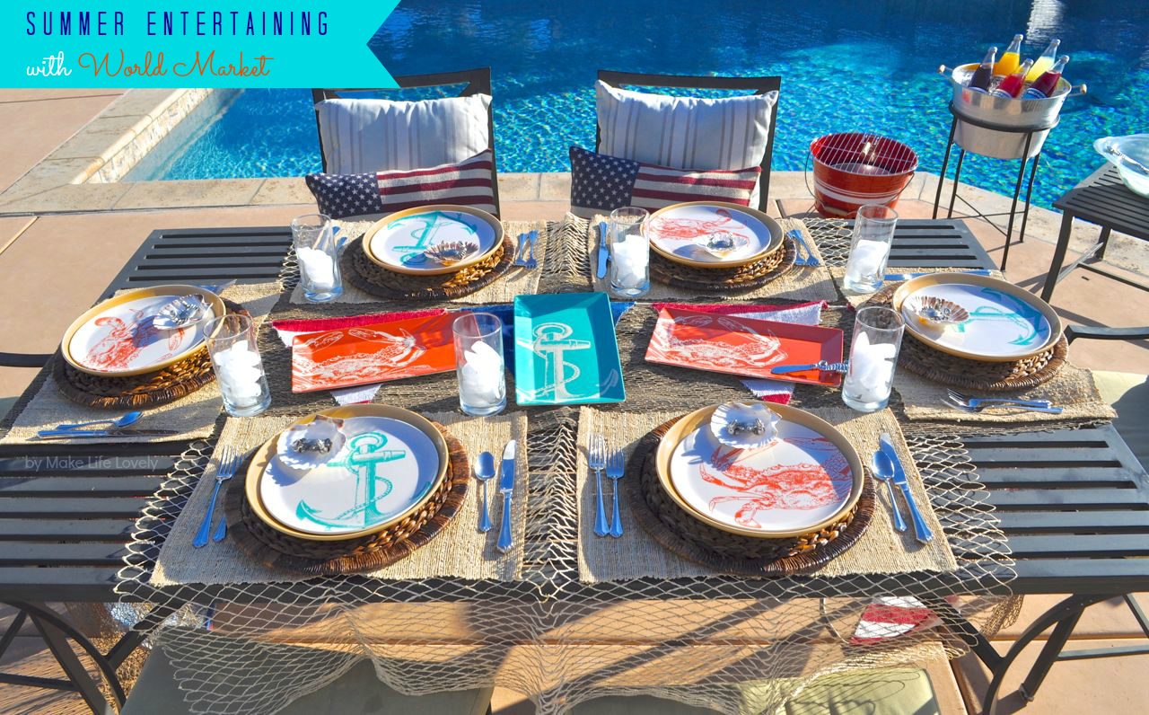 Surf And Turf Dinner Party Ideas Part - 18: ... Them Into My Nautical Surf And Turf Meal. Be Sure To Check Out Their  Fun Outdoor Entertainment And Outdoor Dining Items To Find Just The Right  Products ...