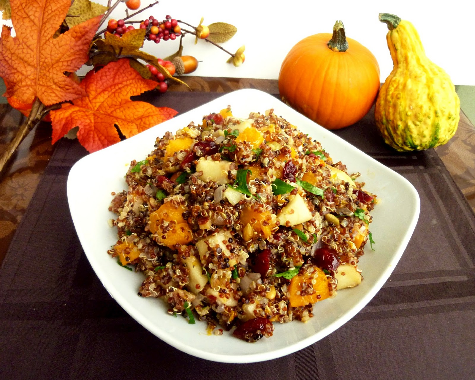 ... Spice: Thanksgiving Week - Day 6: Butternut Squash and Apple Quinoa