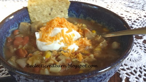 Eclectic Red Barn: Green Enchilada Pork Chili