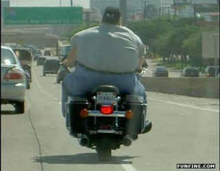 fat people ride bycicle