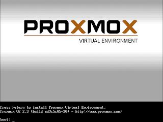 Install Proxmox VE 2.3