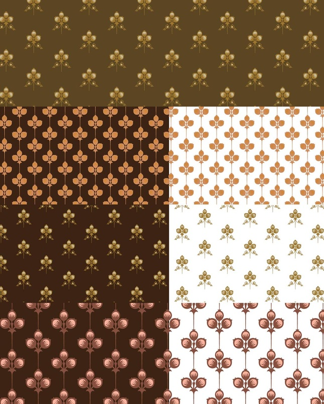 12 Free Floral Flowers Vector Patterns Graphics Download