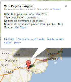 pollution de l'eau potable à puget sur argens