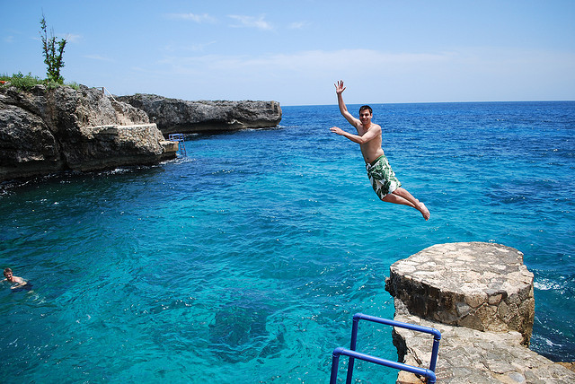 Cliff Diving, Negril, Jamaica